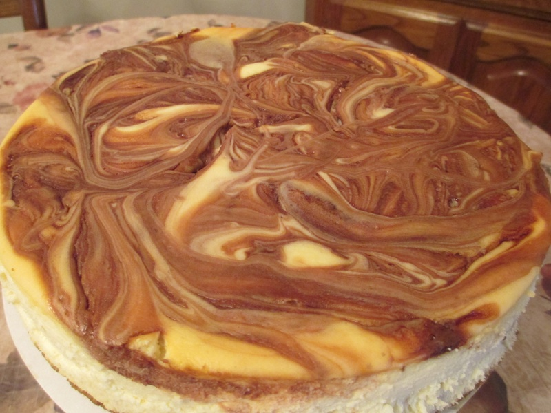 CHOCOLATE-CARAMEL SWIRL CHEESECAKE